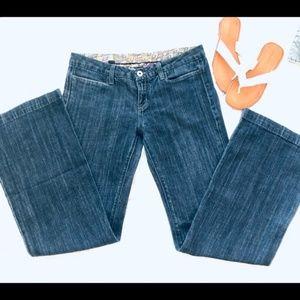 Miss Me Wide Leg Modelo Dark Wash Jeans Size 31